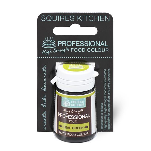 Colorant alimentar profesional pasta, verde frunza, Squires Kitchen