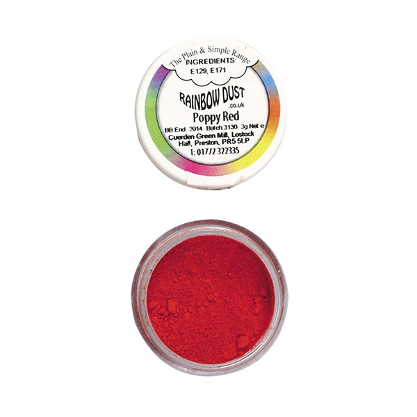 Colorant pulbere rosu mac