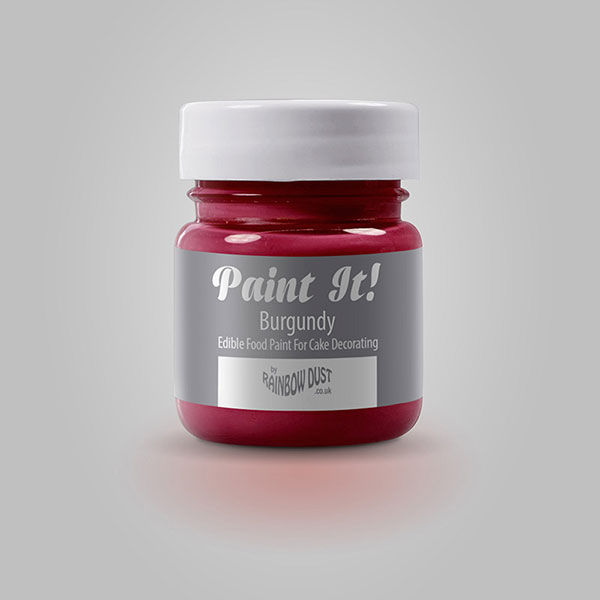 Colorant pictura, rosu Burgundia, Paint It!, Rainbow Dust