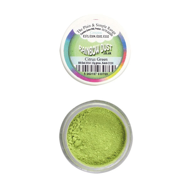 Colorant alimentar pulbere verde lime (citric)